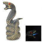 QQBH QQBH58 Unique Cobra Shaped Windproof Mental Butane Gas Lighter - Bronze