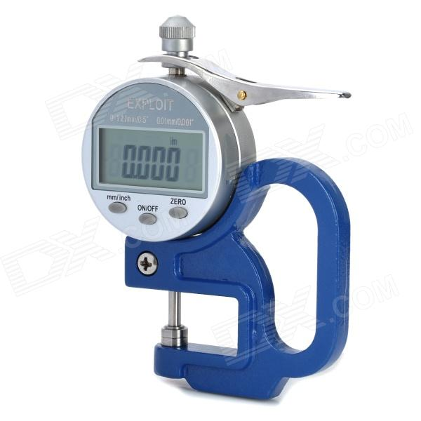 EXPLOIT 1.8 Display Screen Digital Thickness Gauge - Blue (0~10mm / Precision 0.01mm / 1 x CR2032) exploit high precision 0 01mm profession digital lcd display thickness gauge meter paper leather fabric thickness tester
