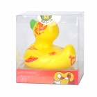2088 Cute Duck Style Children's Showering Swimming Toy w/ Sound - Yellow + Red + Green (3 x LR626)