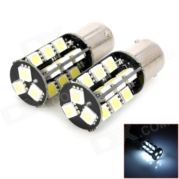 1156 8W 320lm 27-5050 SMD LED White Light Car Turning / Brake Lamp (2 PCS)