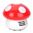 D516 Mushroom Style Automatic Desk Vacuum Cleaner - Red (2 x AA)