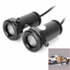 3W 220lm VIP Logo Light Courtesy Door Light Lamp - Black (12~24V / Pair)