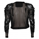 Fashion Removable Protective Motorcycle Riding Race Armor w/ Round Hole - Black (Size XXL)