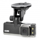 CUBOT GS2000 1.5&quot; LCD 5.0 MP Wide Angle Car DVR w/ HDMI / TF / GPS / G-sensor / Google Map - Black