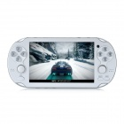 "4.3"" TFT Screen Game Console w/ 300KP Camera / FM / AV-Out / TF - White (4GB)"