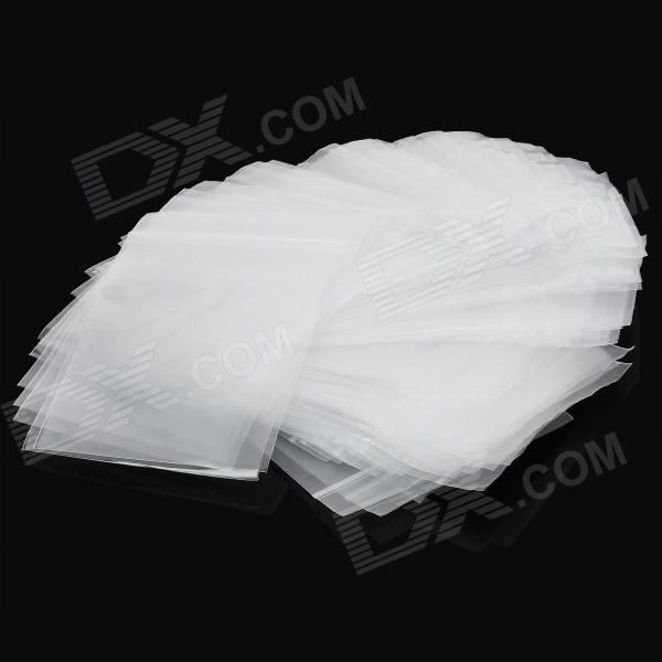 Simple Resealable PE Bags Set - White (100 PCS / 10 x 7 x 0.1cm)