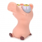 Funny Rolling Eyeballs Pop-out Piggy Vinyl Stress Reliever Toy - Pink 