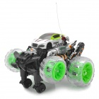 ZhengCheng 333-ZL12B Rechargeable 4-CH Radio Control Crawl Stunt R/C Car w/ Music / Light - Green
