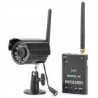 2.4GHz Wireless Digital Surveillance Camera w / 30-LED IR Nachtsicht + Receiver Kit - Black