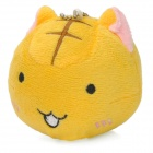 Cute Footless Cat Figure Doll Plush Cell Phone Strap - Yellow