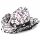 Cute Check Pattern Gingham Pet Hat - Black