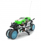 ZhengCheng 333-CL11B Rechargeable 4-CH Radio Control Rotation Drift R/C Motorcycle w/ Music / Light