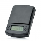 NPOL ON-P03-600 1.2&quot; LCD Portable Pocket Digital Scale - Black (600g / 0.1g / 2 x AAA)