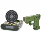 "Unique 2.0"" LCD Gun Target Shooting Alarm Clock Set - Camouflage (4 x AA / 2 x AA)"