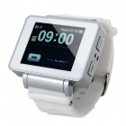 "i5 GSM Watch Phone w/ 1.8"" Resistive Screen, Quad-Band, FM and Single-SIM - White"