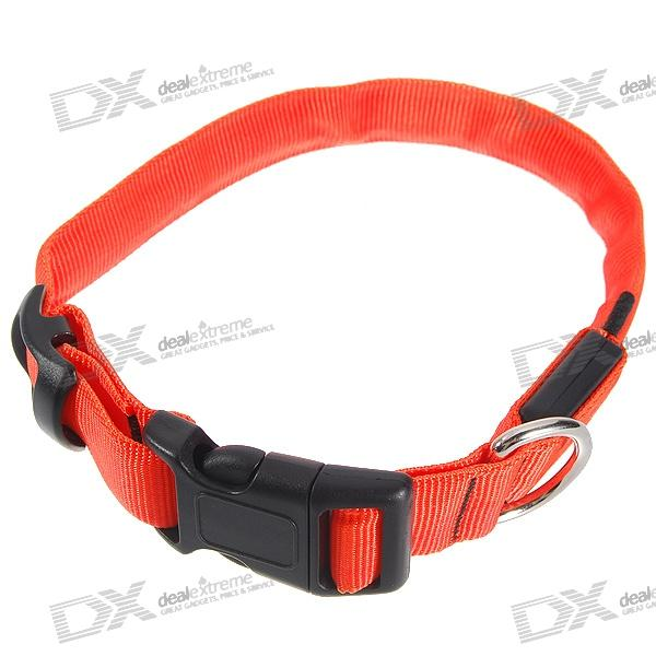 Collar ajustável 2-Mode LED intermitente Dog / Belt (Laranja)