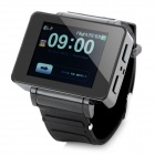 "i5 GSM Watch Phone w/ 1.8"" Resistive Screen, Quad-Band, FM and Single-SIM - Black"