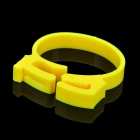 Stylish Wire Cord Cable Ring Clamp Organizer - Yellow (6 PCS)