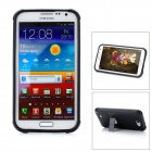 Protective Plastic Case w/ Foldable Holder for Samsung N7100 - Black
