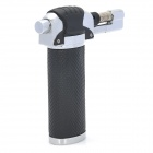 20# Stainless Steel Windproof Gas Blue / Yellow Flame Jet Lighter - Silver + Black