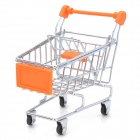 GW-01 Creative Simulation Mini Supermarket Shopping Trolley Toy - Orange