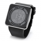 Fashion Touch Screen Rubber Band Digital Wrist Watch w/ Calendar - Black (1 x CR2035)