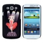 3D Sexy Beauty Style Protective Plastic Case for Samsung i9300 Galaxy S3 - Black