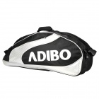 ADIBO B720-01 Polyester Tennis Badminton Racket Bag w/ Dual Strap - Black