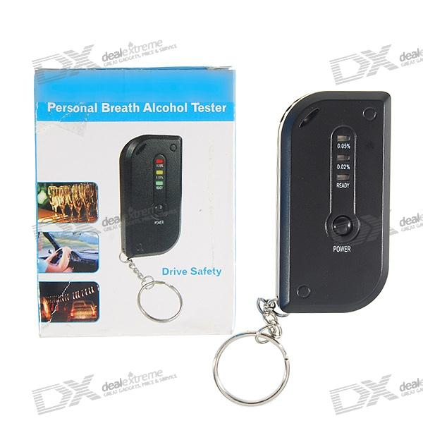 3-Mode LED Alcohol Tester Breathalyzer Keychain