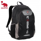 Oiwas 2861 Fashion Outdoor Travel Water Resistant Nylon Backpack Bag - Black (21L)