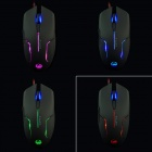 TeamScorpion X-LUCA USB 2000DPI Gaming Optical Mouse - Black