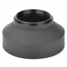 Portable Foldable 55mm Wide Angle Medium Telephoto Rubber Lens Hood for Camera - Black