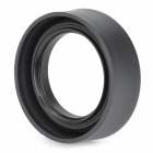 Portable Foldable 52mm Wide Angle Medium Telephoto Rubber Lens Hood for Camera - Black