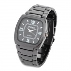 Fetwo 8082G Causal Man's Stainless Steel Quartz Analog Waterproof Wrist Watch - Black (1 x 377)