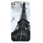 Eiffel Tower Pattern Protective Plastic Case for Iphone 5 - White + Deep Grey