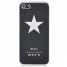Pentagram Pattern Protective Case w/ Caller Signal Flashing LED for iPhone 5- Black (1 x CR2016)