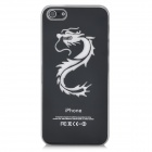 Dragon Pattern Protective Case w/ Caller Signal Flashing LED for iPhone 5- Black (1 x CR2016)
