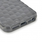 Water Cube Style Protective TPU Back Case for Iphone 5 - Transparent Grey