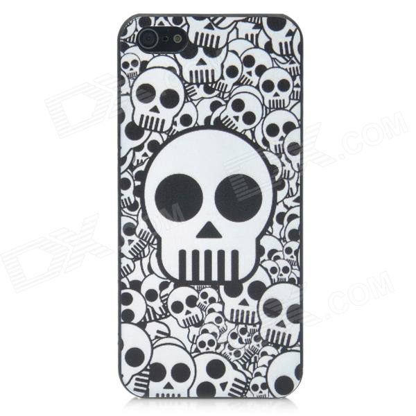 Cool Skull Style Protective Plastic Back Case for Iphone 5 - Black + White