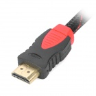 HDMI V1.4 Male to Male Connection Cable - Black + Red