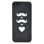 Shimmering Powder Style Protective Plastic Back Case for iPhone 5 - Black