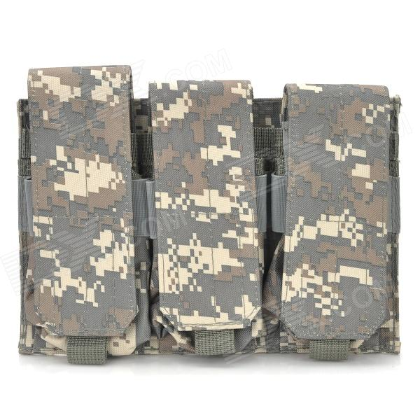 Triple cartucho impermeable Clips lienzo Bolsa para M4 - Color Camuflaje
