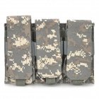 Triple Waterproof Canvas Cartridge Clips Pouch for M4 - Camouflage Color