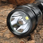 UltraFire UF-T50 800lm White 2-Mode Memory Dimming Flashlight - Black(1x18650/2xCR123A)