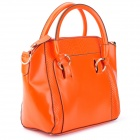 Fashion Alligator Pattern PU Leather Hand Bag Shoulder Bag - Orange