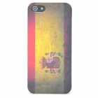 Spanish National Flag Style Protective Plastic Back Case Set for iPhone 5 - Yellow + Red