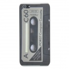 Cassette Pattern Protective ABS Back Case for Iphone 5 - Black + White + Grey