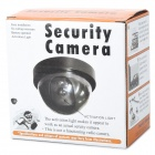 Fokon FK-CCTV 1 Realistic Dummy Surveillance Security Camera w/ Flashing LED Light - Black (2 x AA)