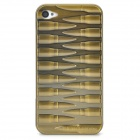 Bullet Style Protective Brass Back Case for Iphone 4 / 4S - Antique Brass