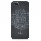 Protective Matte Plastic Back Case for Iphone 5 - Black